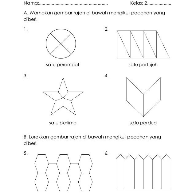 Soalan Matematik Tahun 3 Pecahan - Kuora p