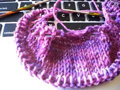 Sugared Violets (shawlette)