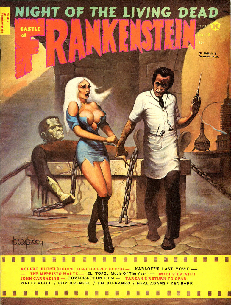 Castle Of Frankenstein, Issue 18 (1972) Cover Art by Ken Kelly