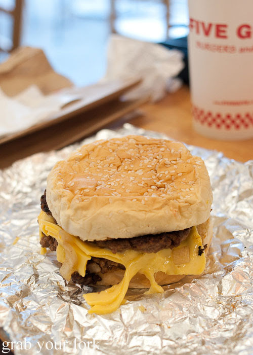 cheeseburger hamburger Five Guys burgers fast food Kansas City Ward Parkway