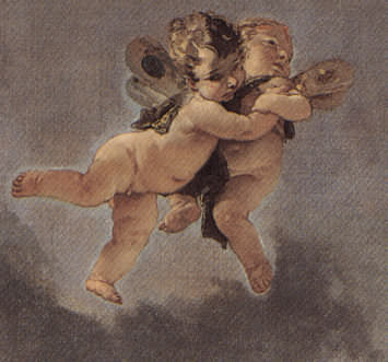 Triumph of Zephyr and Flora by Giambattista Tiepolo