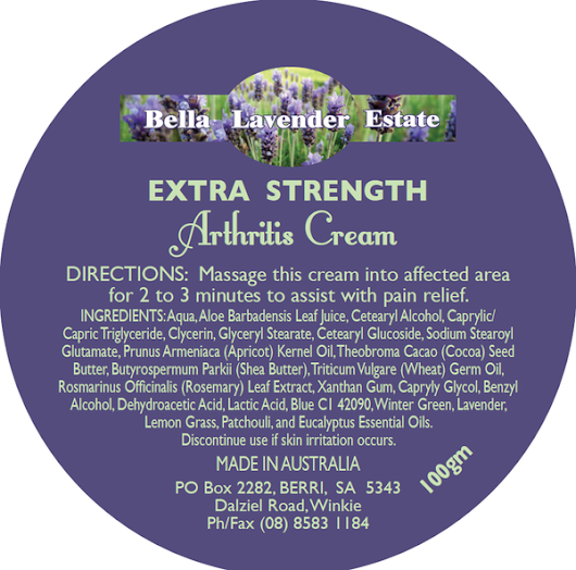 Arthritis Cream - Extra Strength – Bella Lavender Estate