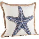 Saro Lifestyle Star Fish Print Cotton Down Filled Throw Pillow
