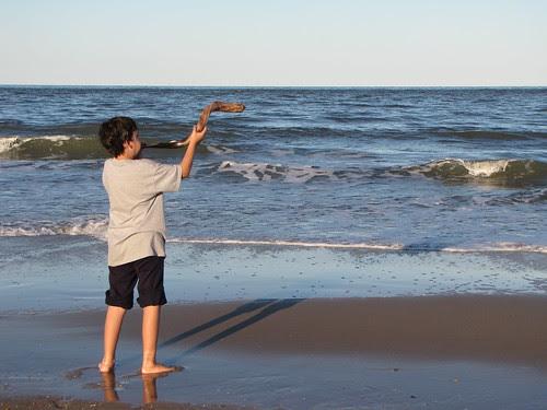 shofar at beach