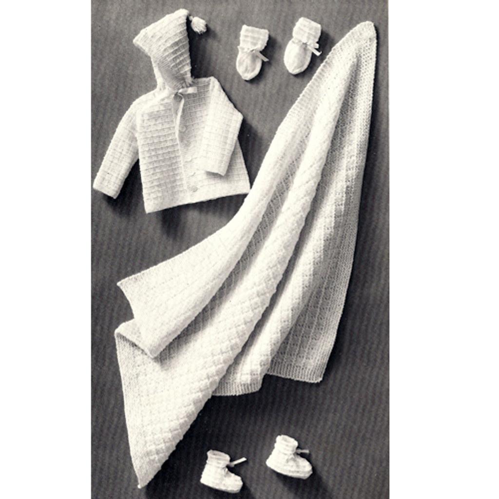 Knitting Pattern, Four Piece Baby Set