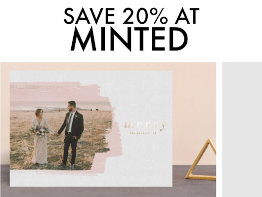Deal Alert - Save Up to 20% at Minted for the Holidays