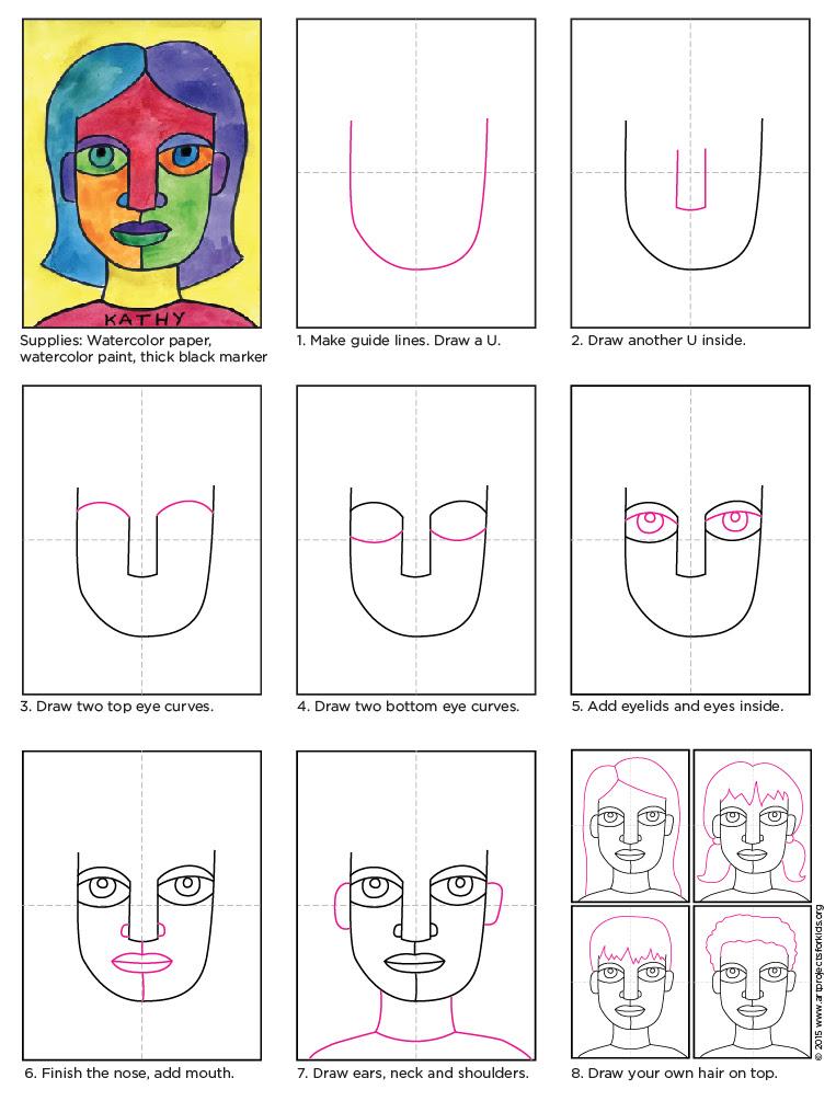 Abstract Self Portrait diagram
