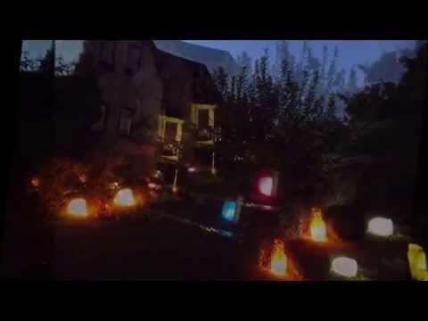 Освещение садовых дорожек на даче: фото и видео примеры