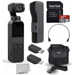DJI Osmo Pocket Handheld 3 Axis Gimbal Stabilizer with Integrated Camera Must-Have Bundle