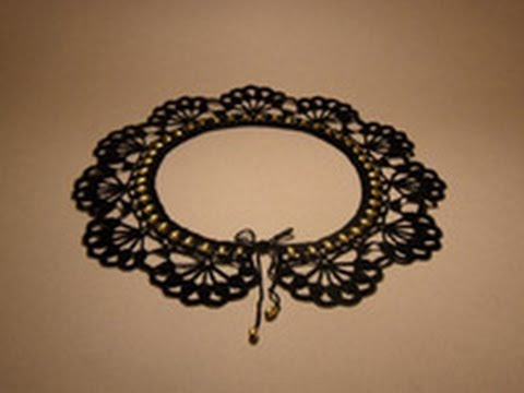 10  MODELS OF BEAUTIFUL OPENWORK COLLARS .......SCHEMES.