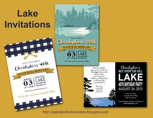 Lake Themed Wedding Invitations: Paper Perfection: Lake Invitations