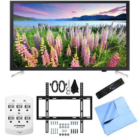 Samsung UN32J5205 - 32-Inch Full HD 1080p Smart LED HDTV Slim Flat Wall Mount Bundle includes UN32J5205 - 32-Inch 1080p Smart LED HDTV, Slim Flat Wall Mount Kit Ultimate Bundle, 6 Outlet Wall Tap w\/