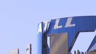 Logotip d'Aigües Ter Llobregat a la seu de la companyia