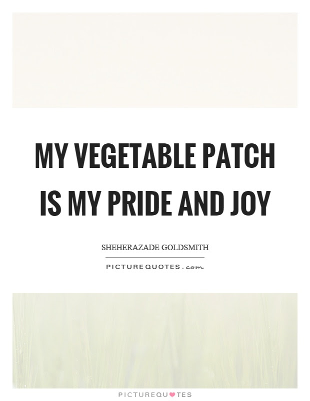 My Vegetable Patch Is My Pride And Joy Picture Quotes