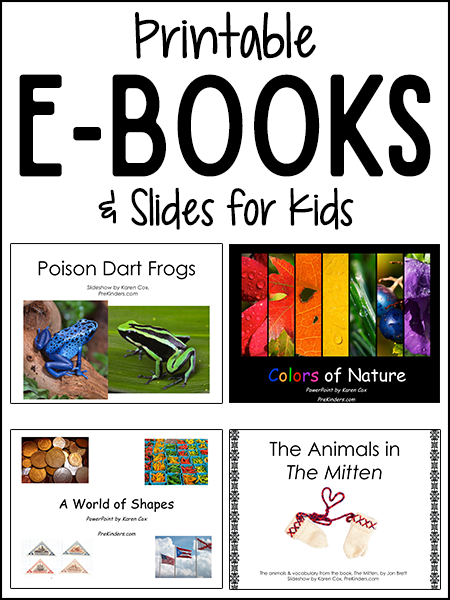 Printable eBooks & Emergent Readers - PreKinders
