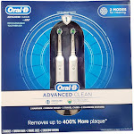 Oral-B Advanced Clean Rechargeable Toothbrush 2 Count
