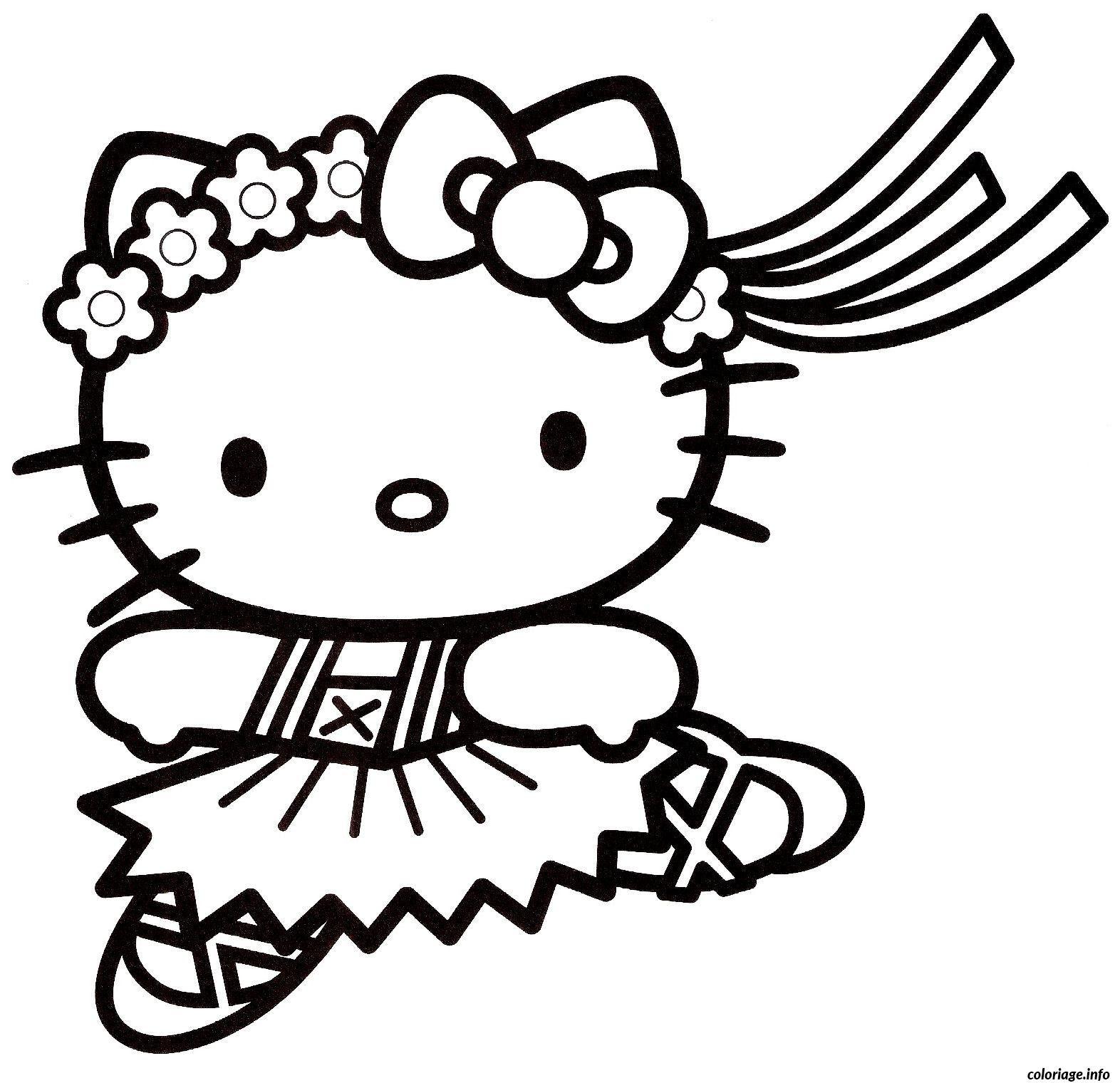 Coloriage Dessin Hello Kitty 3 Jecoloriecom