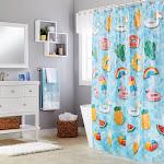"Saturday Knight Ltd Floating About Delightful PEVA Fun Bath Shower Curtain - 70x72"" Multicolor"