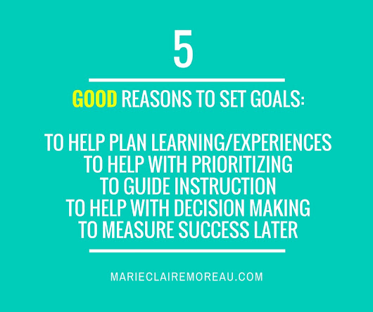 Goal Setting DO's and DON'T's - Marie-Claire Moreau