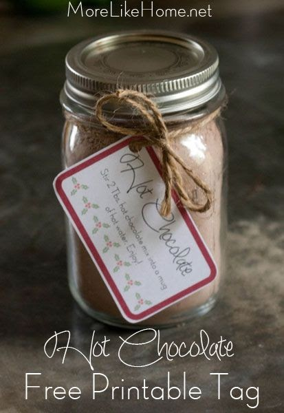more like home  hot chocolate mix  and free printable labels