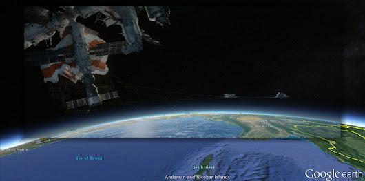 "Every Earth view from ""Gravity"" identified in Google Earth"