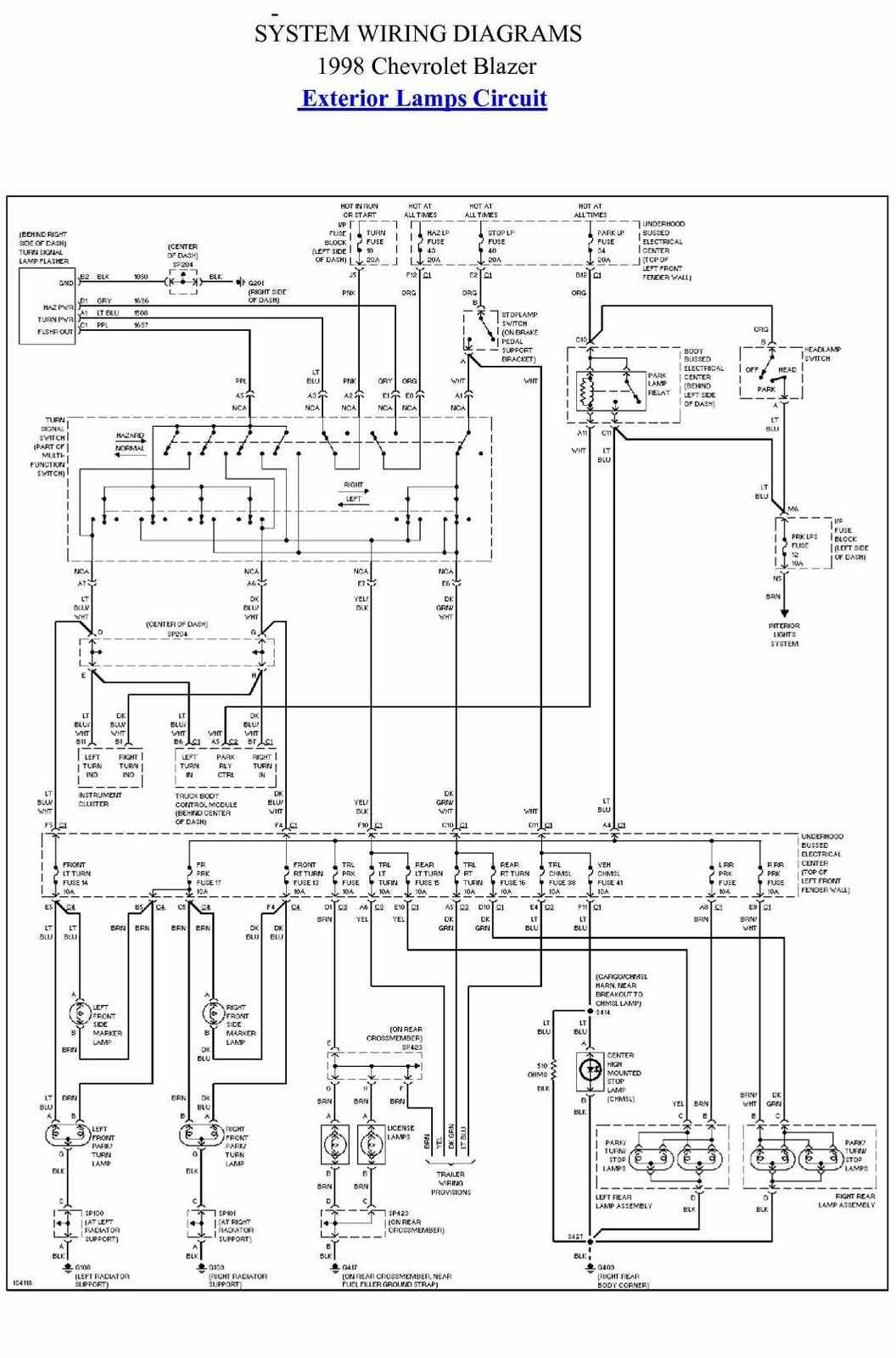1998 Gmc Wiring Connections Box Wiring Diagram