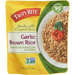 Tasty Bite Rice - Garlic Brown - 8.8 Ounce - PACK OF 30