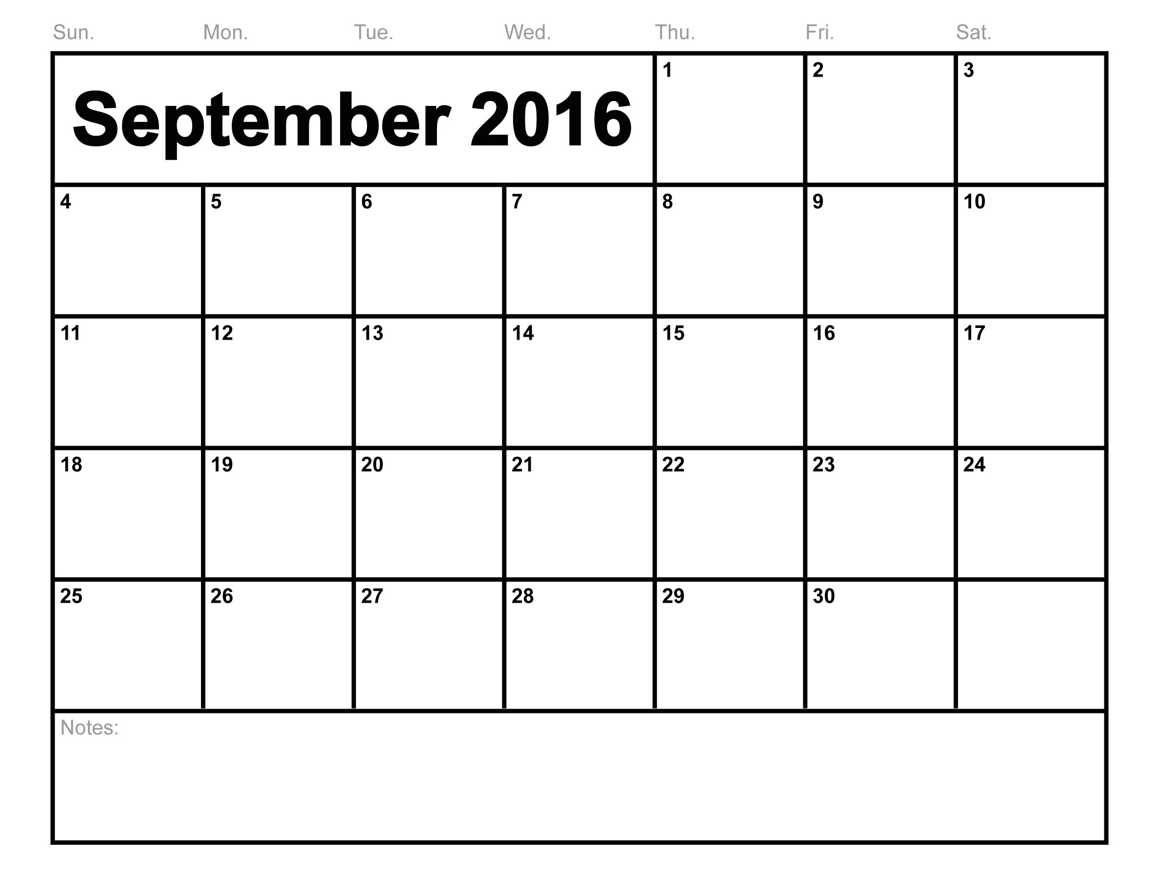 September 2017 Printable calendar   Blank Templates   Printable ...