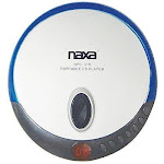 Naxa NPC319BLU Slim Personal Compact Disc Player Blue
