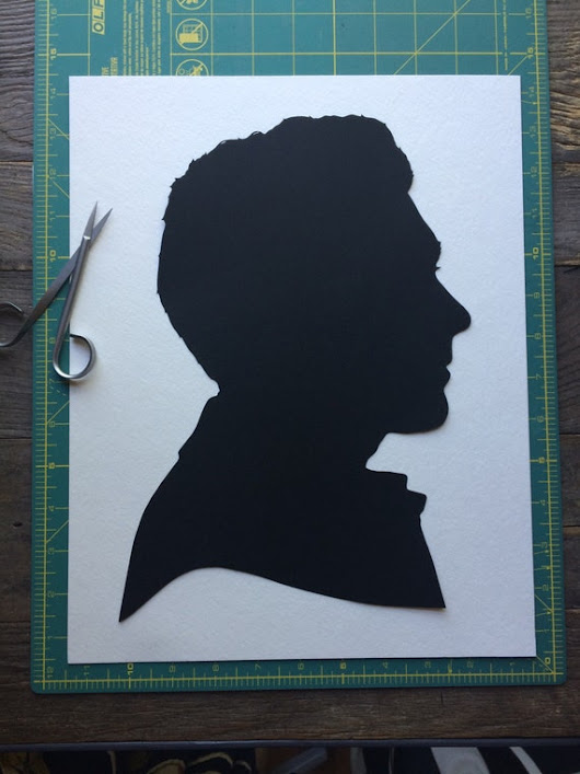 Hand Cut Paper Custom Profile Silhouette Side by SilhouettesbyElle