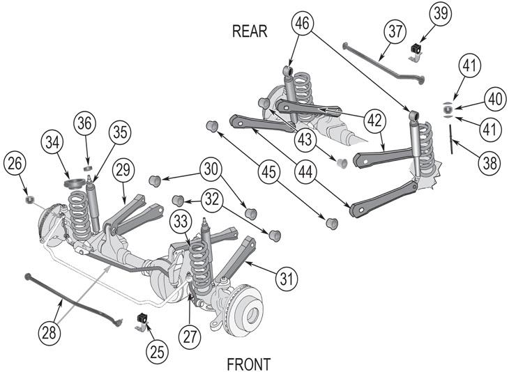 34 jeep cherokee front suspension diagram