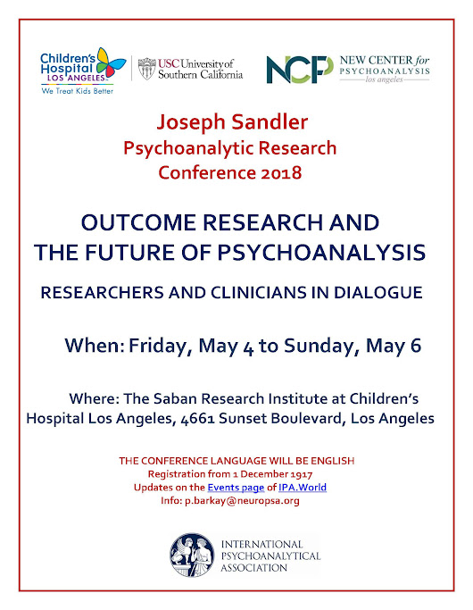 Event Display - Joseph Sandler Psychoanalytic Research Conference 2018