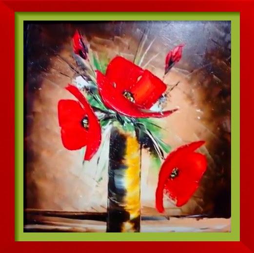 Dessin Et Peinture Vidéo 2588 Bouquet De Coquelicots Stylisés Au