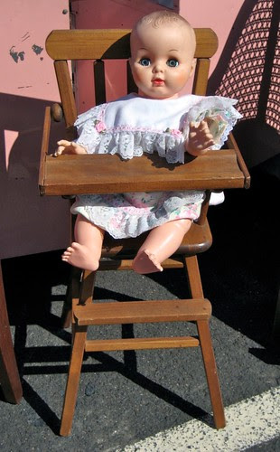Margie and the doll high chair