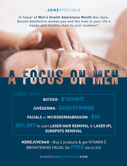 A Focus on Men - Gainesville FL MedSpa Beauty Specials for Men