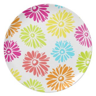 Vibrant Flowers Plate plate