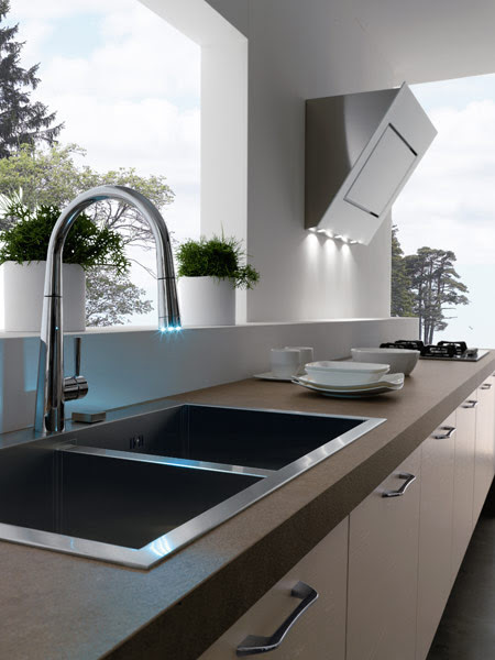 Modern Kitchens Without Upper Cabinets by Treo