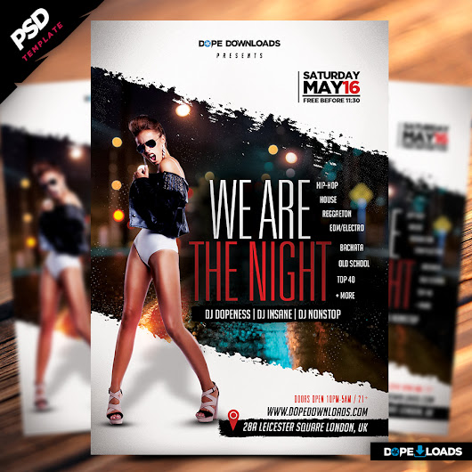 We Are The Night Flyer Template