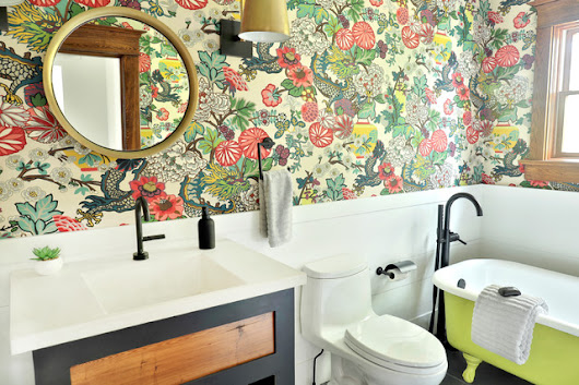 Before And After Cheerful Color In A Farmhouse Bathroom