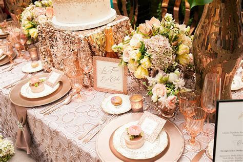 Rose Gold Wedding Reception Decor   Sonal J. Shah Event