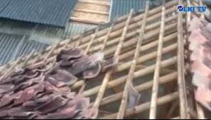 Angin puting beliung terjang puluhan rumah di desa tugu bandung