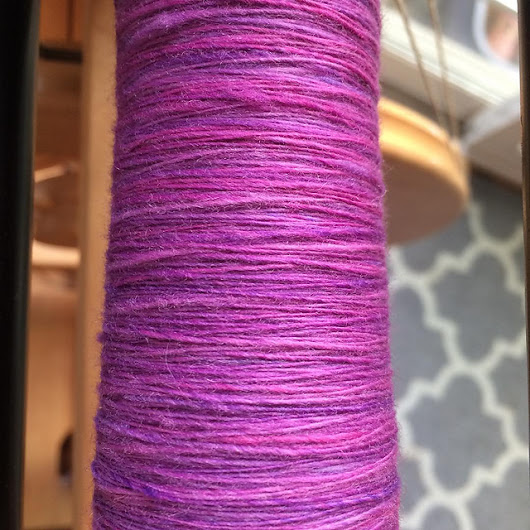Spinning a Gradient Yarn with Fauxlags