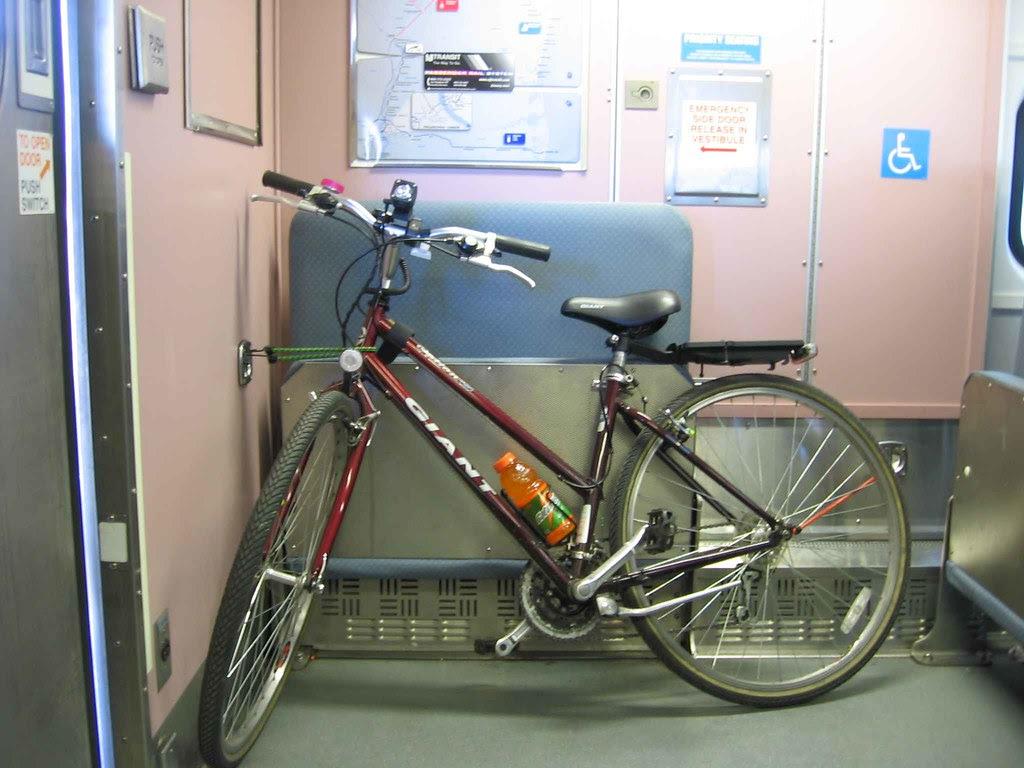 Bike on board NJ Transit train