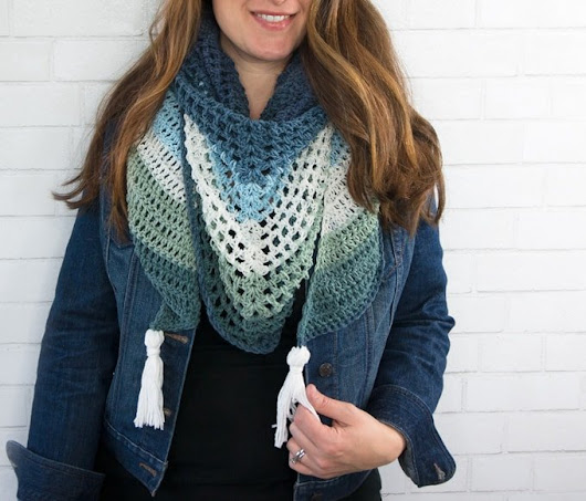 Crochet Triangle Wrap Pattern - Easy Crochet Shawl Pattern