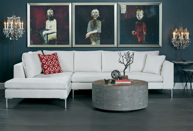 Gothic Chic - Stefano Sectional - contemporary - living room ...