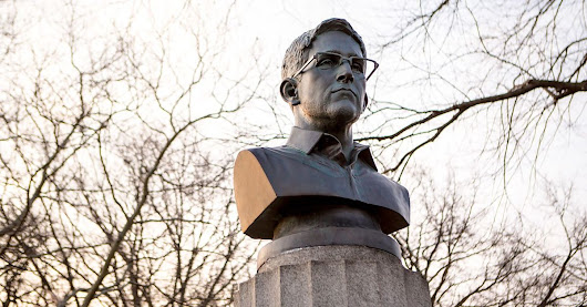 NYC officials remove Edward Snowden statue secretly installed in Brooklyn park