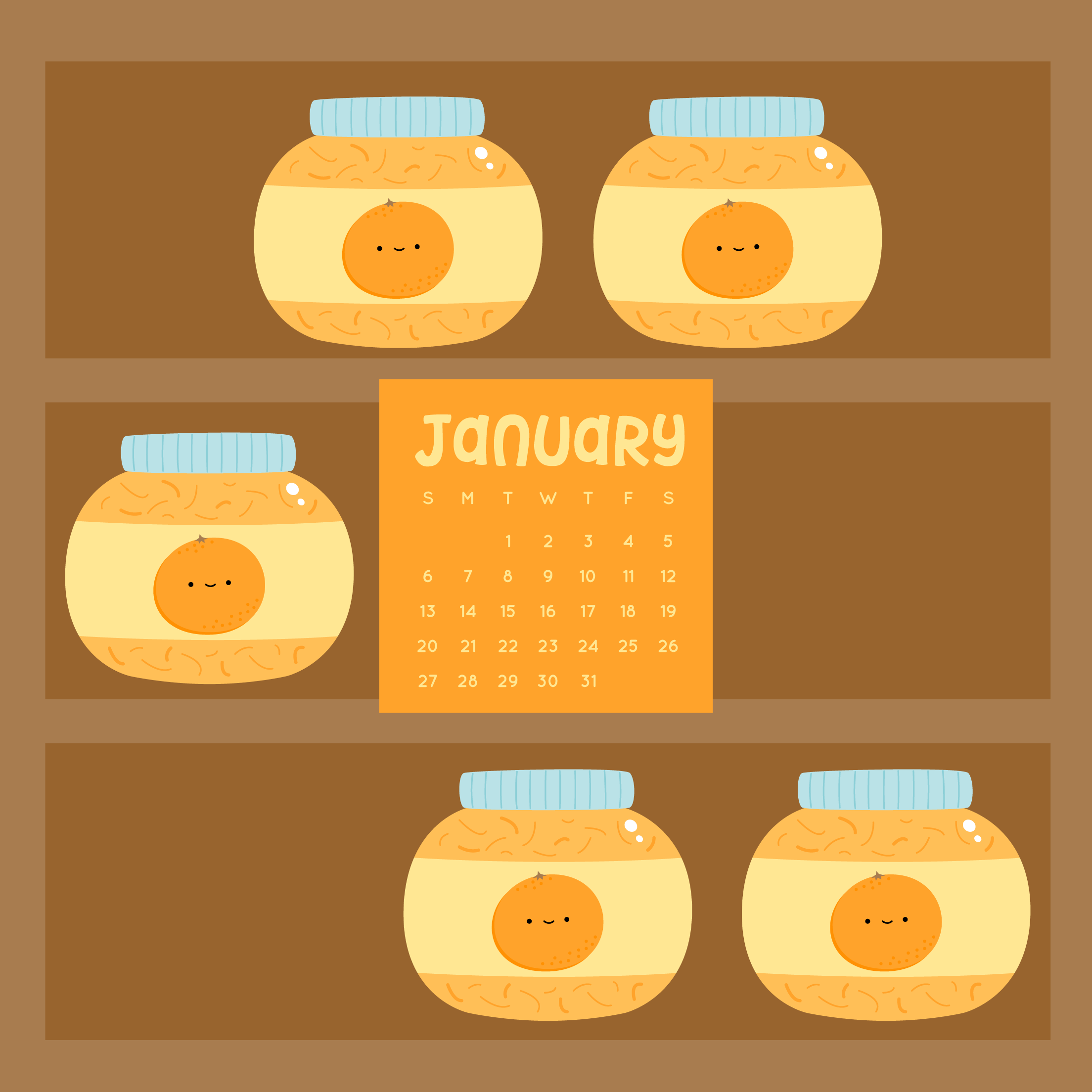 Wild Olive Calendar January Orange Marmalade Wallpapers Images, Photos, Reviews