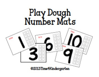 play-doh mats, play-dough mats for math