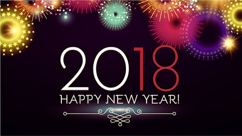 Happy New Year 2018 Image and SMS - حیاط خلوت