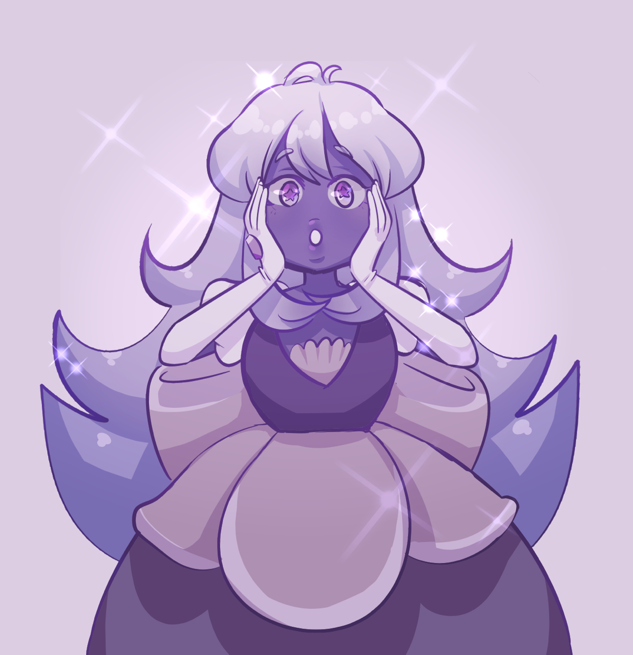 i'd imagine violet sapphire to have two eyes!! one from paddy, one from sapphy